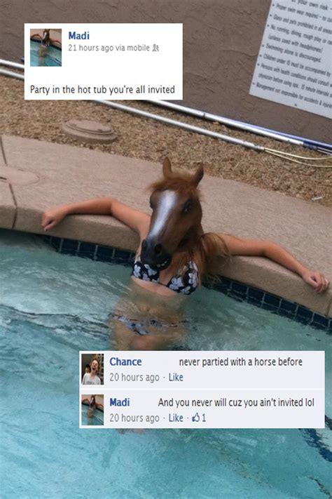 Hot Tub Meme - hot tub party horse head mask know your meme