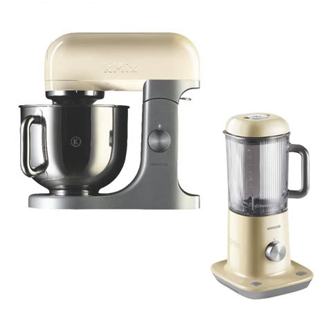 kenwood cuisine mixer kenwood kmx52 food mixer with kmix blx52 blender almond
