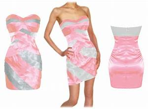 mini robe bustier cocktail droite moulante en satin rose With robe droite rose