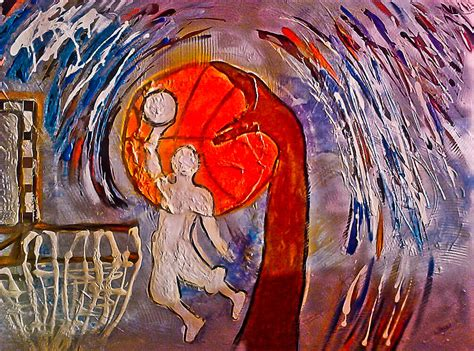 love  basketball painting  artista elisabet