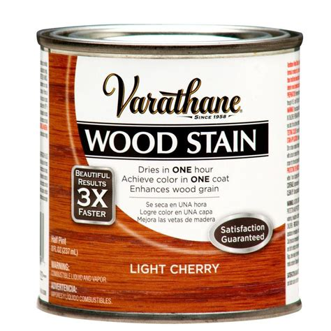 light cherry color varathane 1 2 pint light cherry wood stain 266268 the home depot