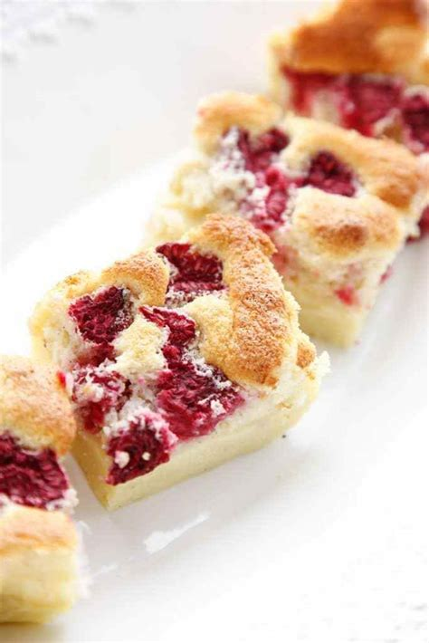 raspberry vanilla bean magic custard cake  brooklyn cook