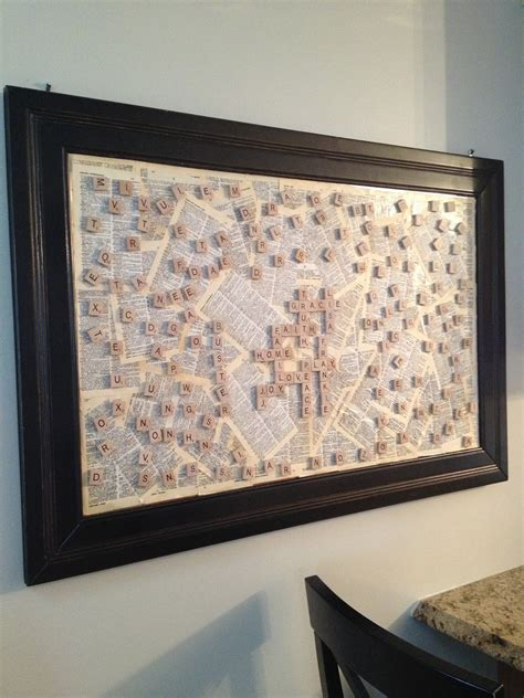 Free shipping on orders over $35. Gracie Blue : Wall Art for the Kitchen {Scrabble Board DIY}