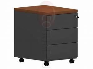 Caisson Bureau Noir : caisson mobile 3 tiroirs pro m tal noir ~ Teatrodelosmanantiales.com Idées de Décoration