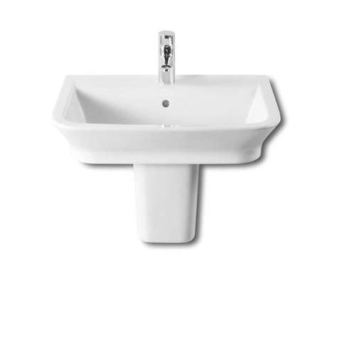 Roca Bathroom Sinks by Roca The Gap 550mm 1 Tap Basin With Semi Pedestal