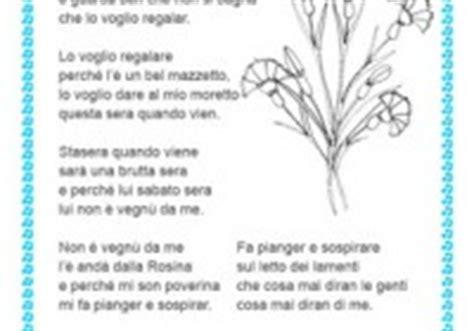 testo della canzone ci vuole un fiore quel mazzolin di fiori testo fiori idea immagine