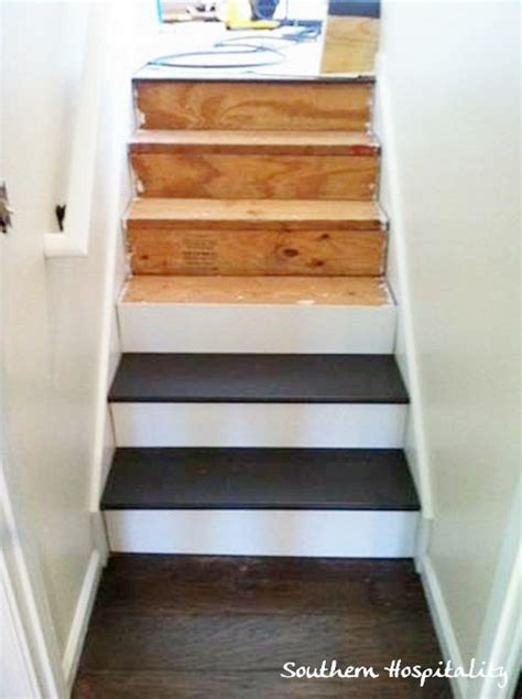Changing Carpet Stairs To Wood by Painted Stairs And Adding Runners Southern Hospitality