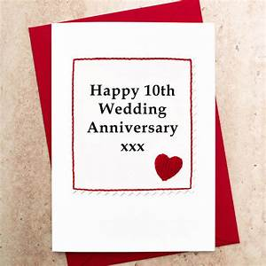 handmade 10th wedding anniversary card by jenny arnott With 10th wedding anniversary gifts