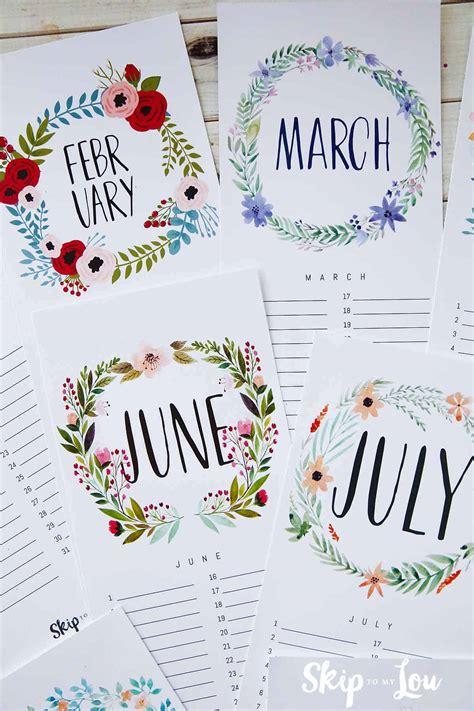 beautiful  printable calendar
