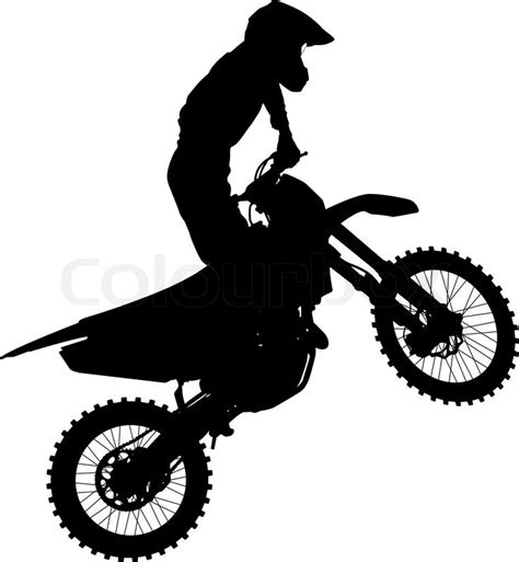 racing games motocross black silhouettes motocross rider on a motorcycle vector