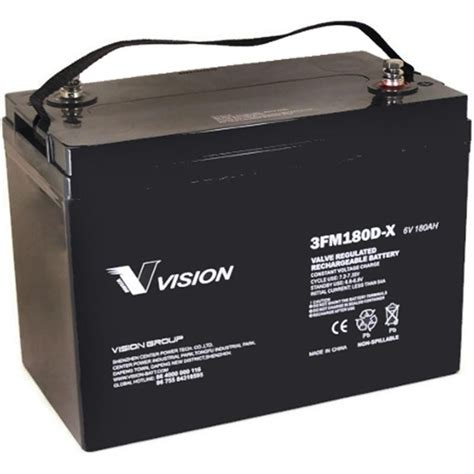 battery 6v pallet jack electric 180ah vision deep volt 27 cycle agm crown truck batteries sealed grp 220ah interstate champion