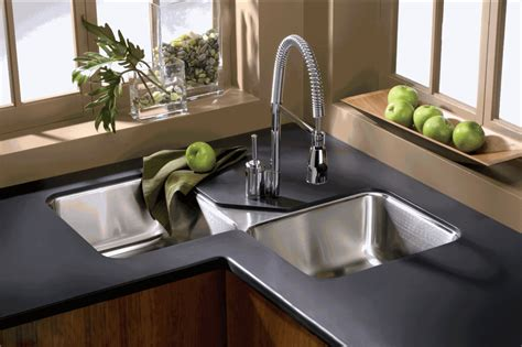 kitchen sink ideas find the right corner kitchen sink material