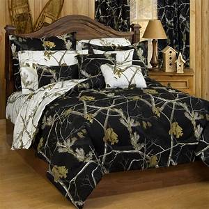 Realtree, Ap, Black, Ap, Snow, Camo, Comforter, Sets