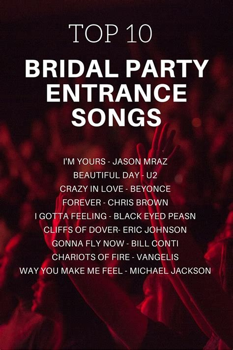 bridal party entrance songs topweddingsites com