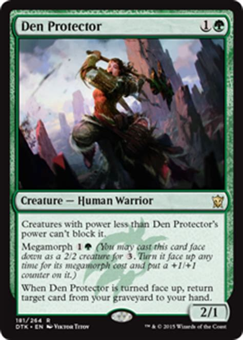 Mtg Origins Deck Archetypes by Den Protector Dragons Of Tarkir Gatherer Magic The