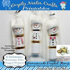 Hershey Nuggets Candy Bar Wrapper, Christmas - Snowman ...