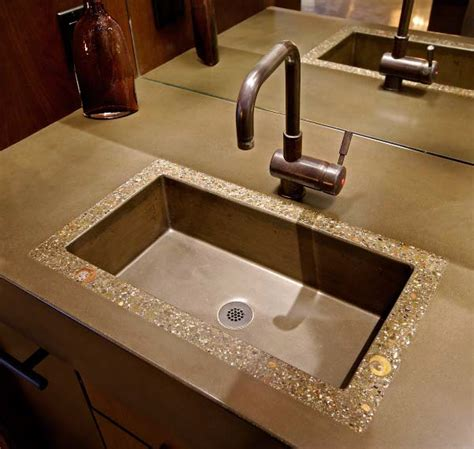 kitchen countertop sink california concrete home and fireplace concrete 1013