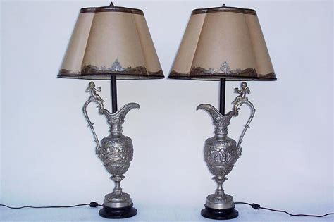 Pair Of Italian Silver Plated Bronze Urn Lamps For Sale Where Can I Buy Extra Long Curtains And Pillows For Living Room Little Boy Curtain System Panels Grommet Top Bamboo Outdoor Cleaning Service Grey White Yellow Shower
