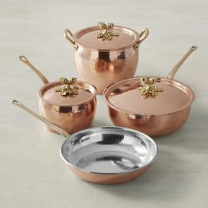 ruffoni historia copper artichoke handle stock pots mutfak