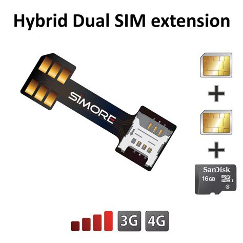 sim cards  micro sd card extension adapter  hybrid