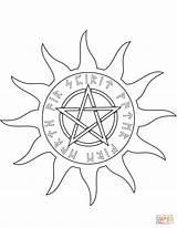 Wiccan Wicca Pentagram Coloring Pentacle Supercoloring Drawing Elements Five Printable Colorare Pentagramma Culture Arts Getdrawings Drukuj sketch template