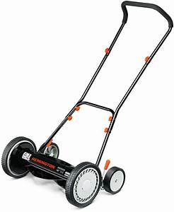 Reel Push Lawn Mower Manual Walk Behind 16 Inch Adjustable