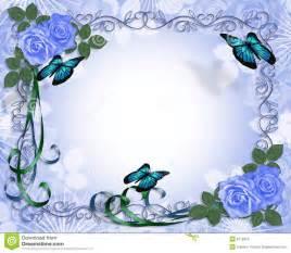 wedding scrap book frontera azul de las rosas de la invitación de la boda