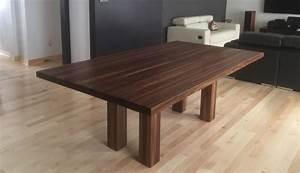 Table En Noyer : tables en bois massif signature st phane dion ~ Teatrodelosmanantiales.com Idées de Décoration