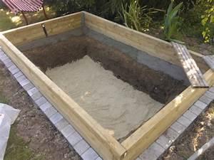 Bache Sol Jardin : bien beton etanche pour piscine 8 construire un bassin de jardin hors sol en bois bassin evtod ~ Teatrodelosmanantiales.com Idées de Décoration