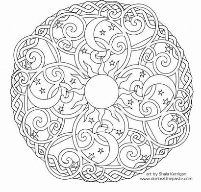 March Coloring Mandala Pages Printable Month Sheets