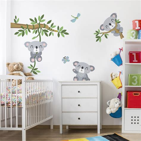 Wandtattoo Kinderzimmer by Wandtattoo Kinderzimmer Koala Set
