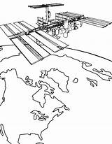 Coloring Satellite Space Nasa Station Artificial International Colouring Travel Satellites Drawings Iis Kleurplaten Ruimtevaart Zo Kleurplaat 79kb 732px Ruimte Designlooter sketch template