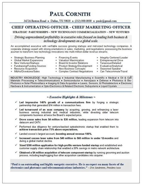 Venture Capital Resume by 27 Best Images About Resume Sles On Career