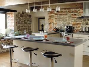modele de cuisine americaine avec ilot central 7 modele With idee deco cuisine avec modele cuisine en l