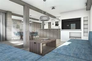 decoration interieur salon cuisine With idee de decoration de jardin exterieur 7 deco salon et cuisine ouverte