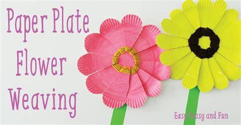 paper plate flower weaving easy peasy  fun