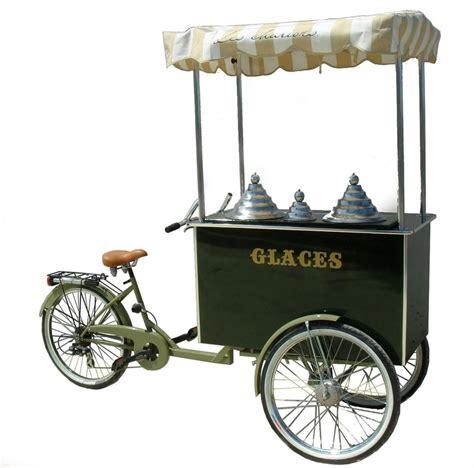 triporteur cuisine carrettino gelati chariot à glaces charrette