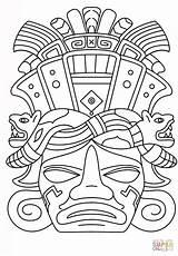 Coloring Sydney Opera Mayan Mask Printable Getcolorings sketch template