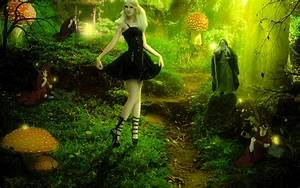 Barbie fairy forest fantasy trees magical wizard mushroom ...