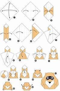 Comment Faire Un Oiseau En Papier : origami de raton laveur ~ Melissatoandfro.com Idées de Décoration
