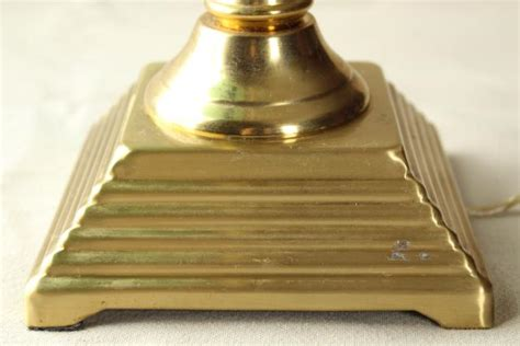 solid brass bankers l vintage solid brass desk light banker 39 s l w emerald