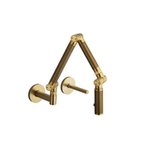 Kohler Karbon Faucet Gold by Kohler Karbon Vibrant Moderne Brushed Gold High Arc