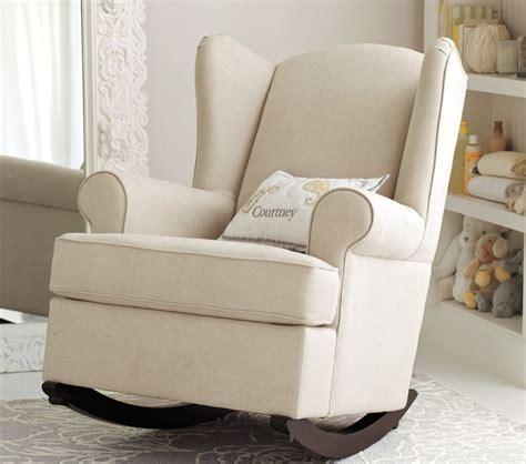 wingback rocker  ottoman nursery rocking chair