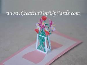 Mother's Day Pop Up Card: Flower Bouquet Tutorial - YouTube