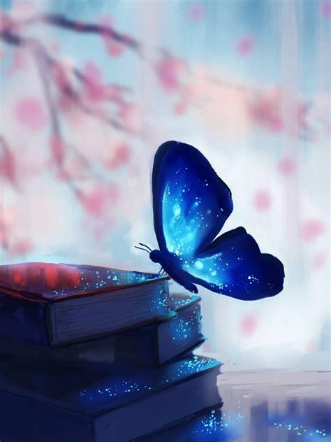 art chibionpu butterfly wallpaper