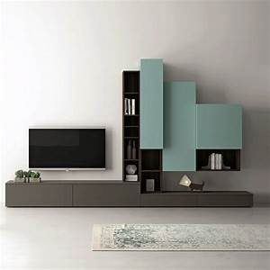 Glass wall units for living room tv units for living for Modern set of living room furniture wall tv unit