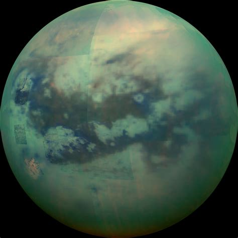 Cassini Captures Infrared View of Saturn's Moon Titan