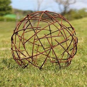 Decoration Jardin Metal : boule fil de fer d co jardin en m tal diam 50cm ~ Teatrodelosmanantiales.com Idées de Décoration