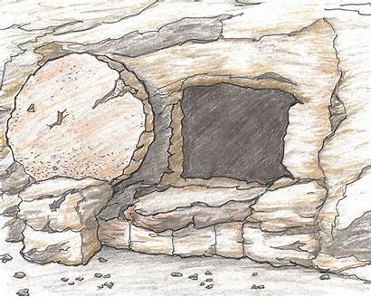 Tomb Empty Jesus Easter Christ Clipart Drawings