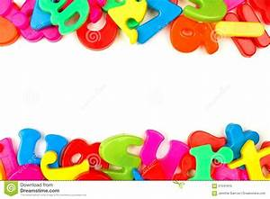 Double border of toy magnetic letters stock photo image for White magnetic letters and numbers
